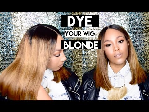 HOW TO DYE YOUR WIG BLONDE | FLYING UNICORN