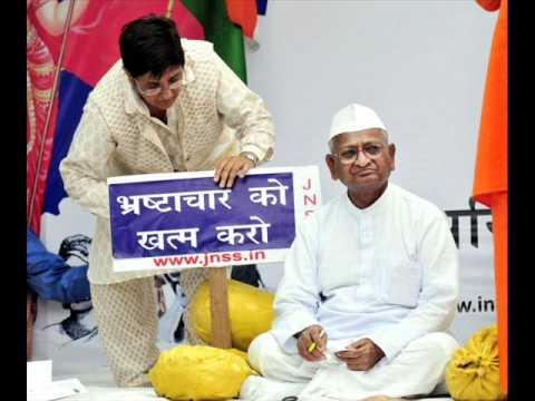 Gandhian Anna Hazare fight for Lokpal Bill against indian corruption
