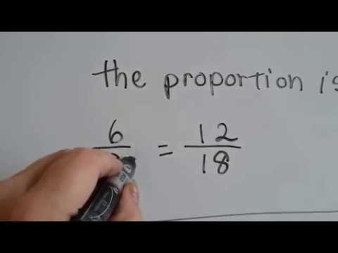 Grade 6 Math #5.3, Proportions - proportional fractions