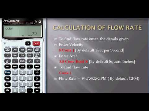 Calculation of the Flow Rate of a Pump to fill a Container in an Installation