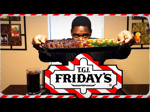 TGI Friday's Dragon Salmon / Jack Daniel's Baby Back Ribs / Mukbang / MKBites