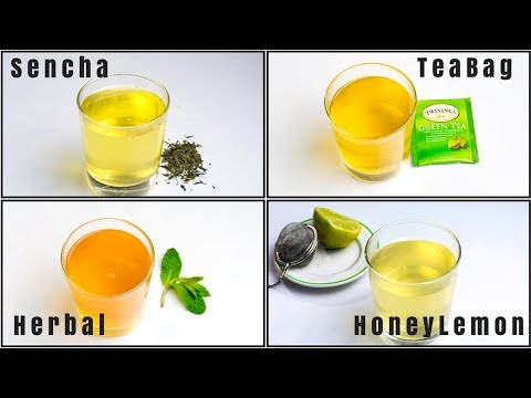 Green Tea Recipe 4 Ways | How to Make Great Tea at Home | Green T