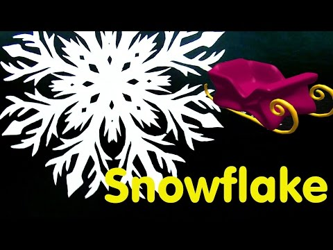 How to cut a Snowflake from a Paper. Window Decoration in Christmas.