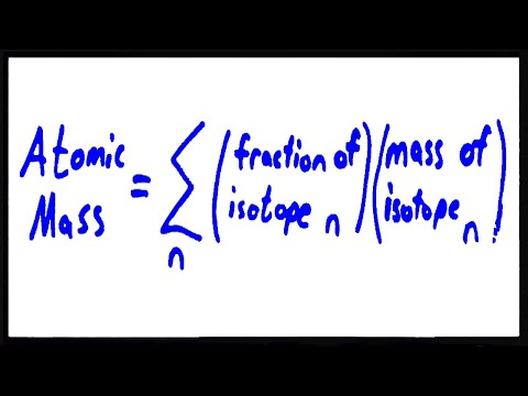 Calculating Atomic Mass Using Isotopes