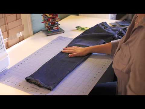 A DIY Recycled Jean Quilt : Getting Crafty