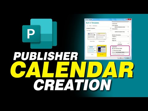 How to Create a Simple Calendar in Publisher 2013, 2016, 360, 2017, 2018