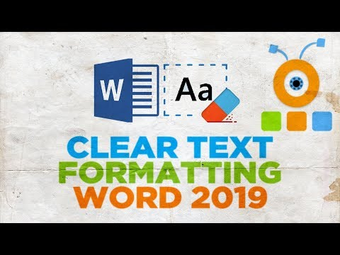 How to Clear Text Formatting in Word 2019   How to Remove Formatting in Word 2019
