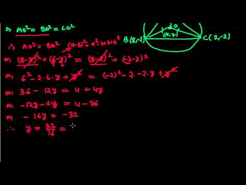 How To Find The Coordinates of Circumcentre of a Triangle - Distance Formula Problems 8