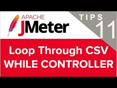 JMeter Beginner Tutorials | Tips n Tricks 11 💡 How to loop CSV file - WHILE CONTROLLER