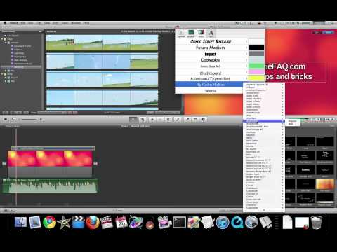 iMovie 11 Tutorial - Working with Fonts and Titles Part 1