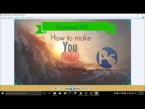 How to make youtube thumbnails without any software