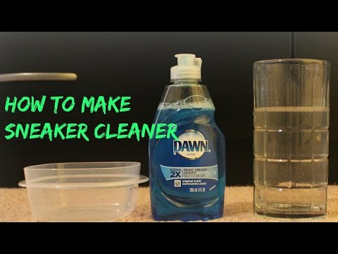 how to make sneaker cleaner