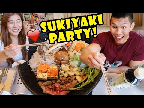 Sukiyaki Japanese One Pot Tabletop Cooking w/ Friends || Life After College: Ep. 590