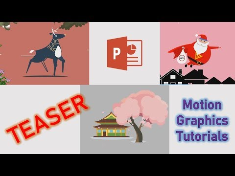 Teaser | How to do Motion Graphics and Character Rigging in PowerPoint 2016