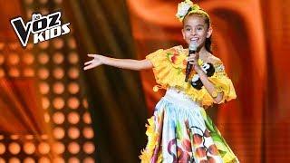 María Paulina canta Ay Sí Sí - Audiciones a ciegas | La Voz Kids Colombia 2018