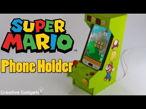 How to make Cell Phone Holder - Super Mario Arcade Machine