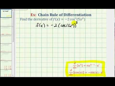 Ex:  Derivative Using the Chain Rule Twice - Trig Function Raised to Power