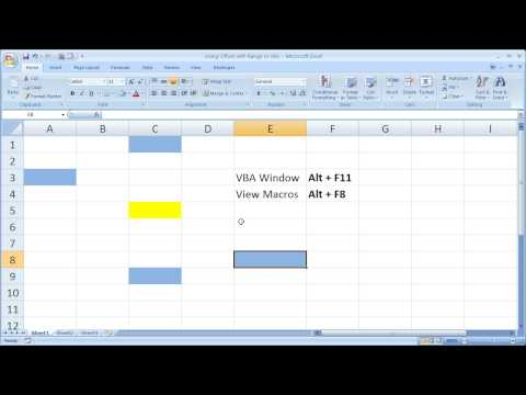Excel Macro VBA Tip 16 - Using Offset in Excel Macros and VBA
