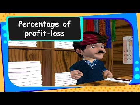 Maths - How to calculate percentage of profit-loss - English