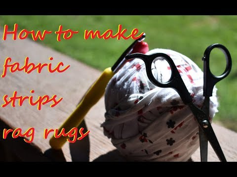 How to make rag rug fabric strips to use with Boye hook the easy way,  no sew.