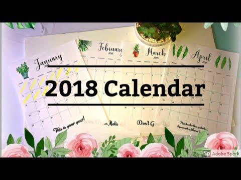 2018 custom calendar