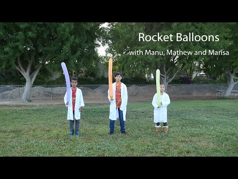 Science it with Manu - Rocket Balloons