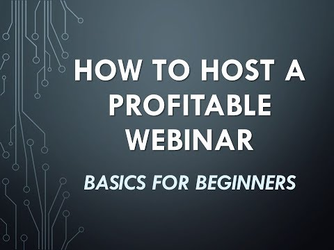 How to Host a Profitable Webinar Online