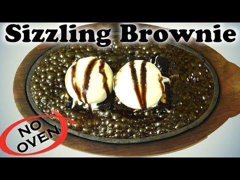How to make SIZZLING BROWNIE without OVEN| Brownie Recipe in kadai without Oven/ cooker|Yummylicious
