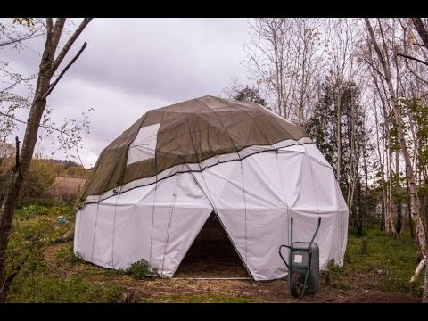How to make a steel geodesic dome and PVC cover, detailed guide.