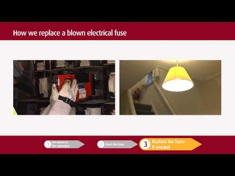 How we replace a blown electrical fuse
