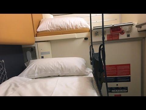 CityNightLine Train Zurich - Berlin in a Sleeping Car Cabin