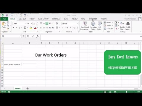 Increase the number on a Worksheet on Open in Excel