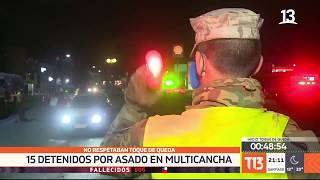 Toque de queda: patrulla militar los sorprende haciendo asado en una cancha
