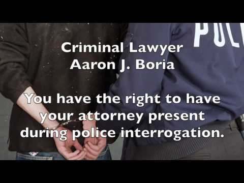 Have an Attorney Present During Questioning - Plymouth Lawyer