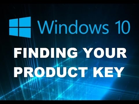 Windows 10 FINDING product key