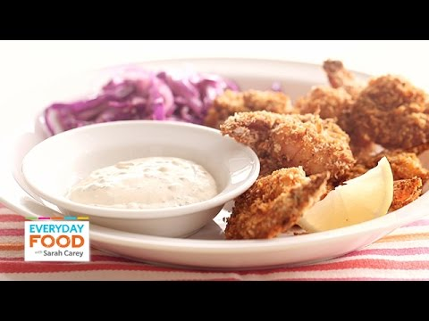 Oven-Baked Crispy Shrimp with Cabbage Slaw - Everyday Food with Sarah Carey