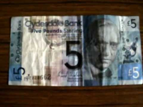 My First Scottish Money Bill Note - 18th February 2013