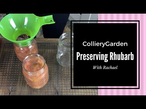 Rachael's Kitchen   Canning/bottling Rhubarb for Long Term Storage