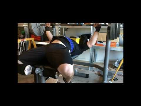 335 raw bench, 385 with bench shirt