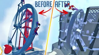 We Overpowered A Giant Wheel And It Destroyed Everything - Human Fall Flat NEW Steam Map