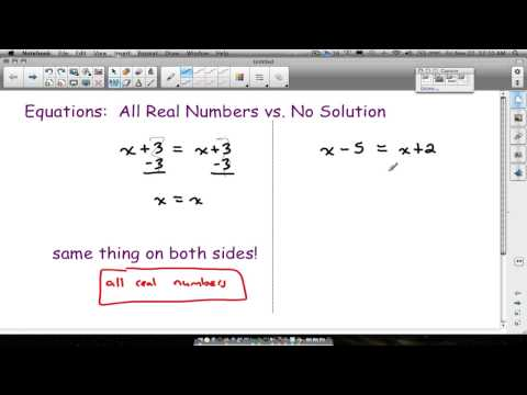 Equations All Real Numbers No Solution