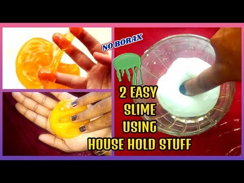 How To Make Slime Without Borax! Only 3 Ingredients!