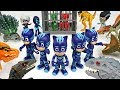 Friends Got Caught By Dinosaurs Army Go PJ Masks Mirror Image Attack DuDuPopTOY