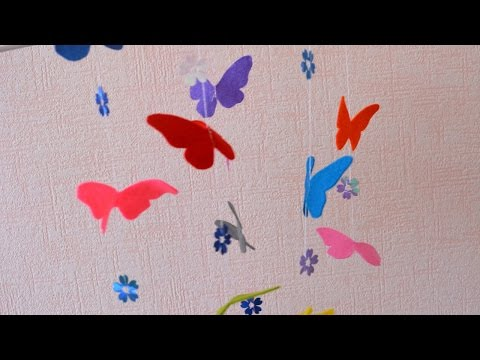 Make a Beautiful Butterfly Mobile - DIY Home - Guidecentral
