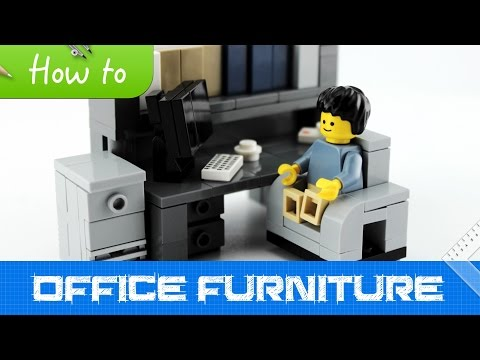 How to make LEGO Office Furniture (2.0 MOC, Basic)