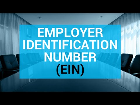 Employer Identification Number -- 60 Second Business Tip
