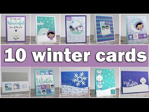 10 winter cards | SSS January Card kit