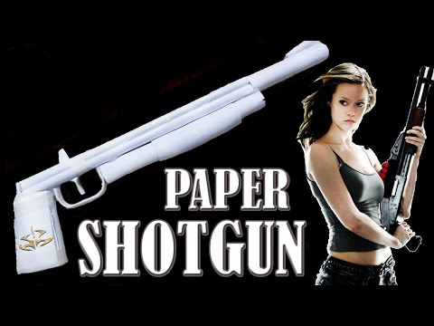 How to Make a Paper Shotgun That Shoots - rubber band paper gun