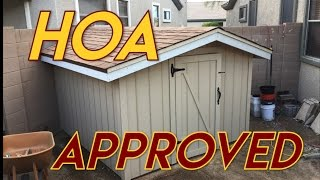 HOA Approved Garden Shed