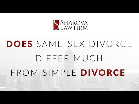 Does same sex divorce differ much from simple divorce in New York State